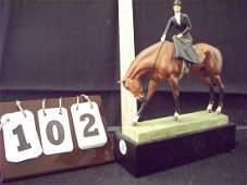 ROYAL WORCESTER 3114 AT THE MEET DORIS LINDNER - 7''x9'