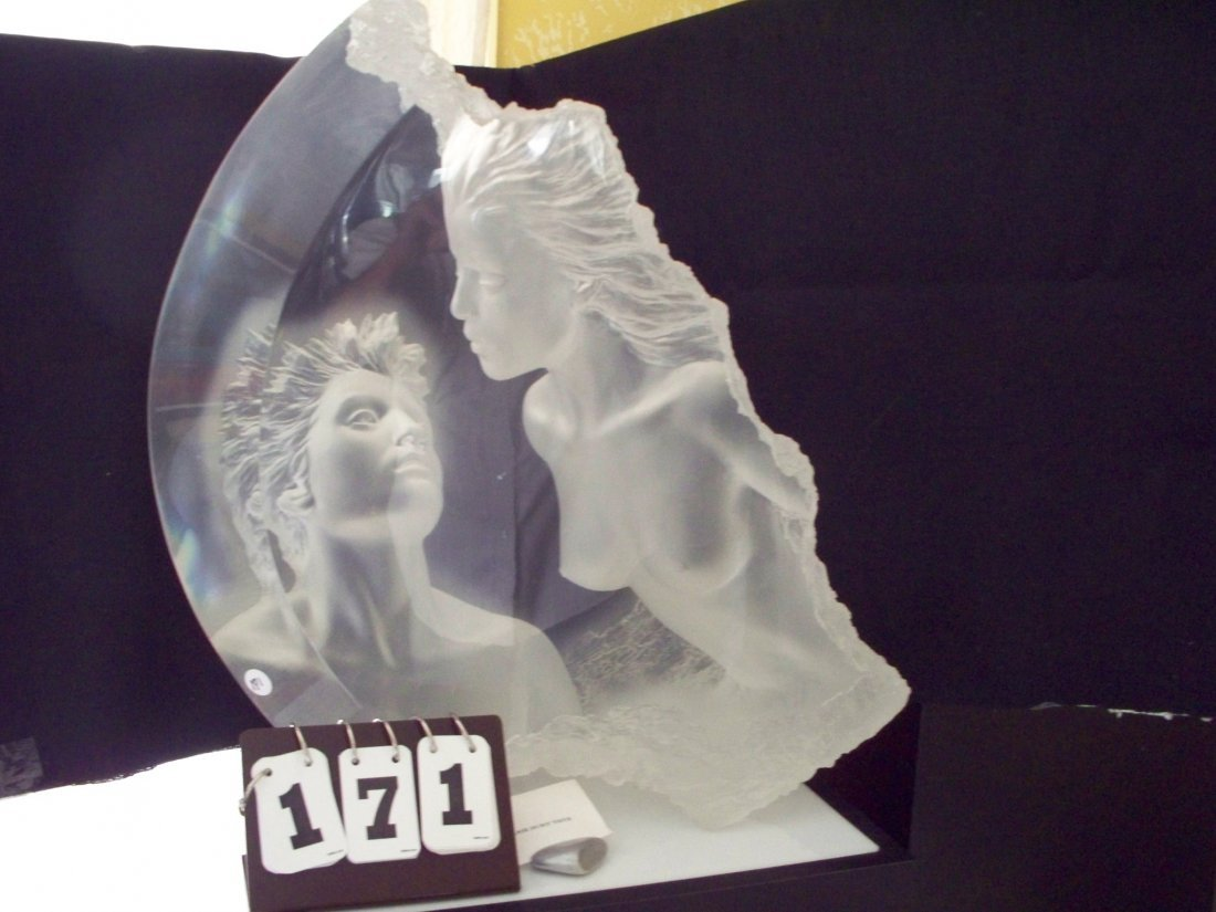 ACRYLIC RESIN SCULPTURE - MAN  for Clear Resin Sculpture  181pct
