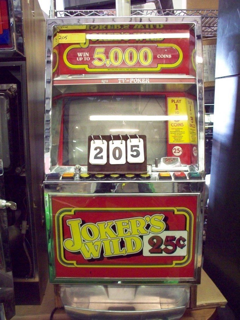 25c JOKERS WILD SLOT MACHINE