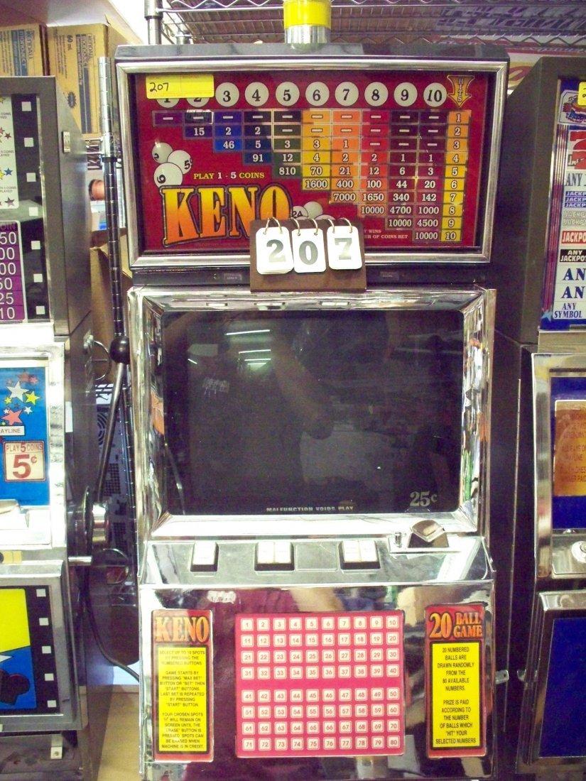 25c KENO SLOT MACHINE