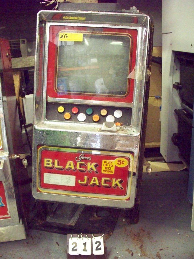 5c BLACK JACK SLOT MACHINE - BROKEN