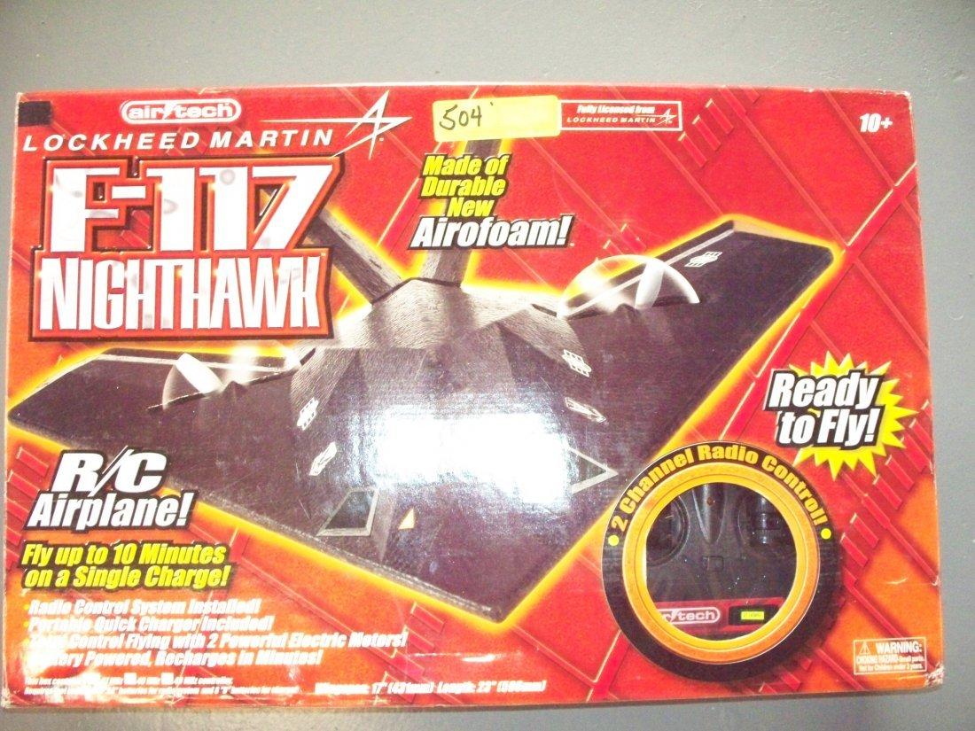AIRTECH LOCKHEAD MARTIN F-117 NIGHTHAWK RC AIRPLANE WIT