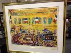 ART - FRENCH STOCK EXCHANGE - SIGNED LEROY NIEMAN