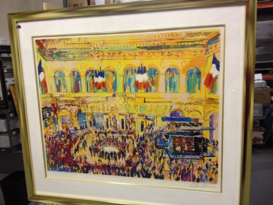 ART - FRENCH STOCK EXCHANGE - SIGNED LEROY NIEMAN