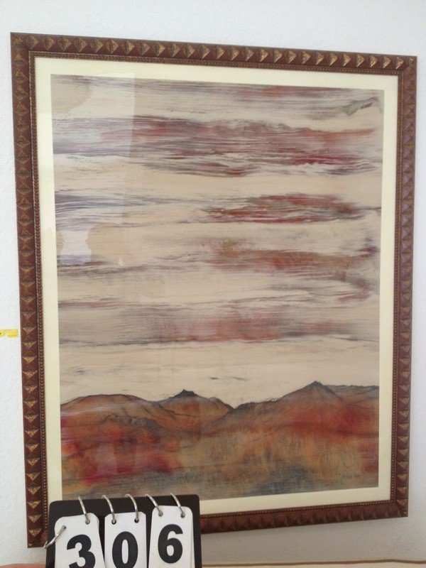 ARTWORK - MODERN MOUNTAIN LANDSCAPE - WOOD FRAME -