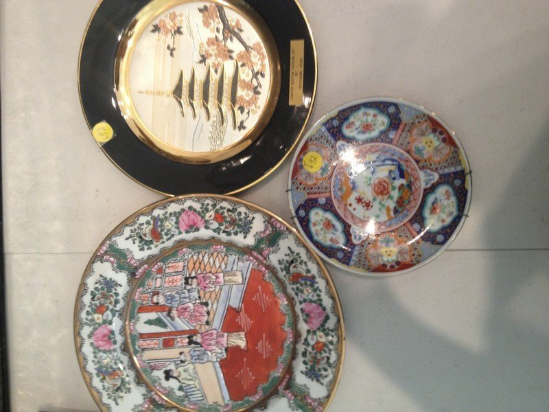 LOT OF 3 COLLECTIBLE ASIAN PLATES - CHOKIN ART LIMITED - 2