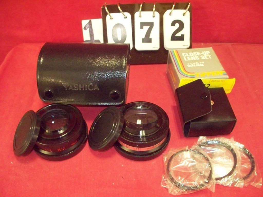 LOT OF 3 - ASSORTED LENSES - 2 YASHIKOR 80X (TELEPHOTO