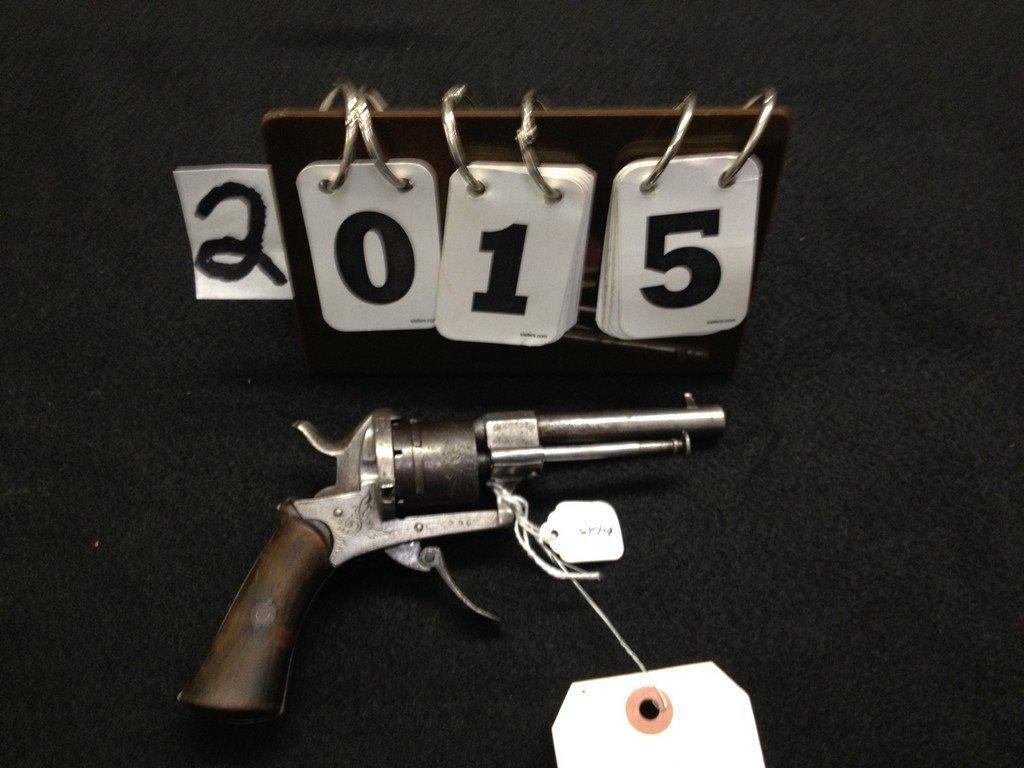 ENGLAND PIN FIRE 6-SHOT REVOLVER - 3.5'' BARREL - MID
