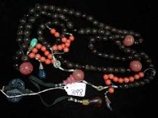NECKLACE - NATIVE ART - MULTI-COLOR - WITH STONES -