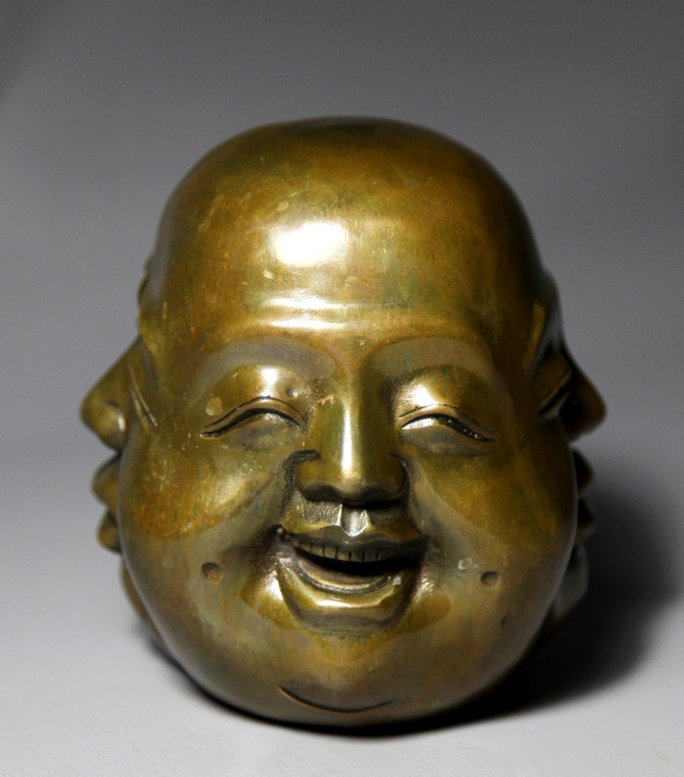 19: BRONZE HEAD PAPERWEIGHT