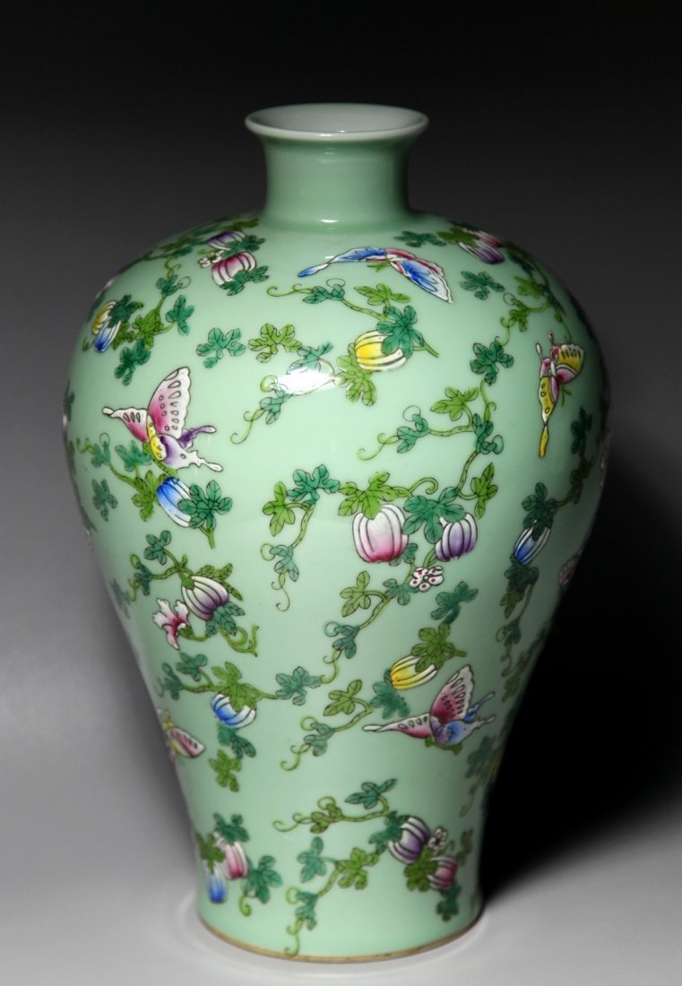 22: POLYCHROME PORCELAIN MEIPING