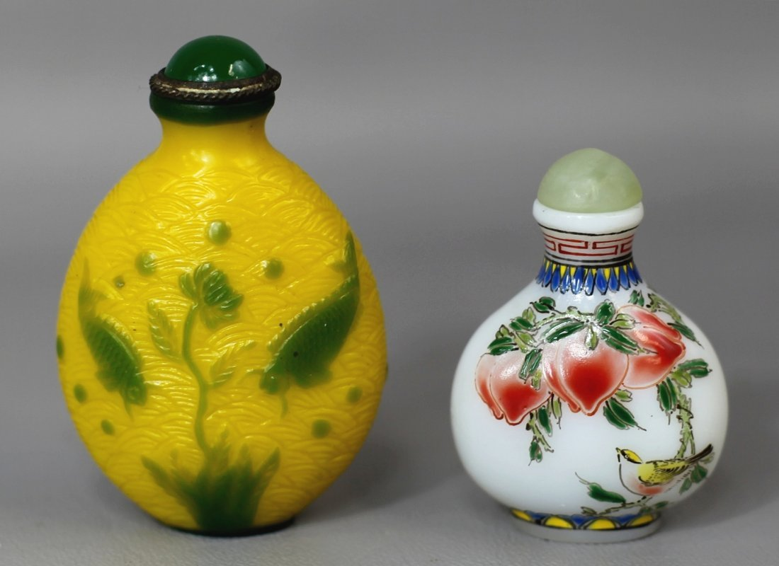 TWO SNUFF BOTTLES