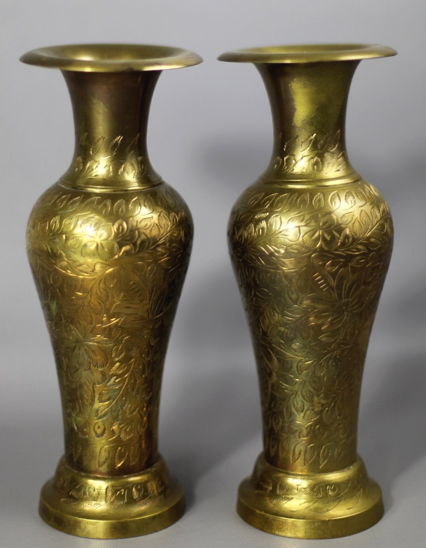 CARVED BRONZE VASE