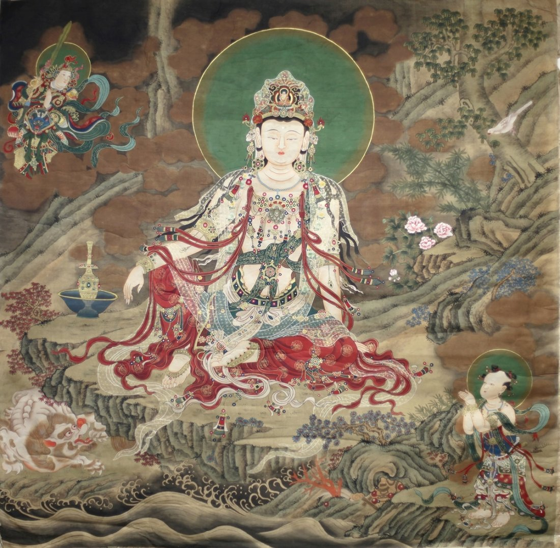 AVALOKITESVARA PAINTING ON SILK