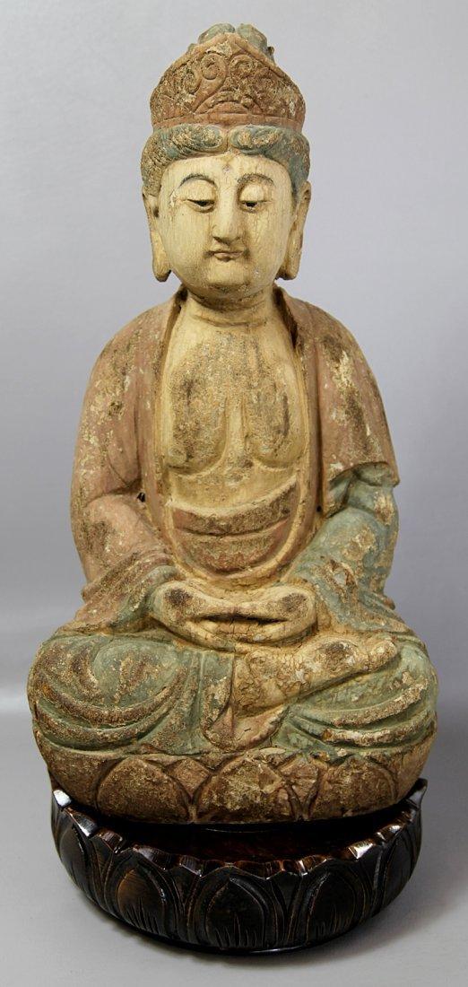 6: WOOD STATUE OF BUDHA