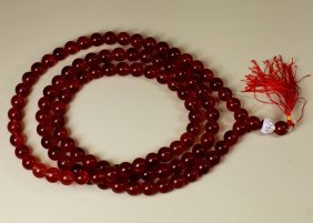 RED PEKING GLASS BEADS