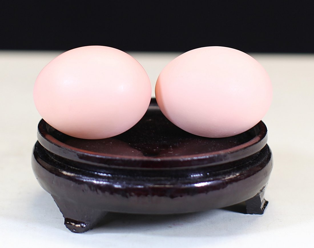 Pair of Shou-Shan Stone Eggs