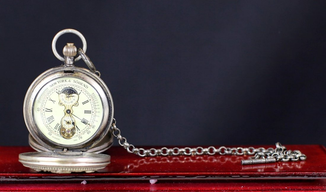 OLD POCKET WATCH WITH TWO COVERS