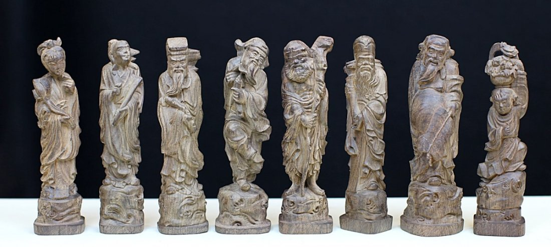ALOEWOOD FIGURES OF THE EIGHT IMMORTALS