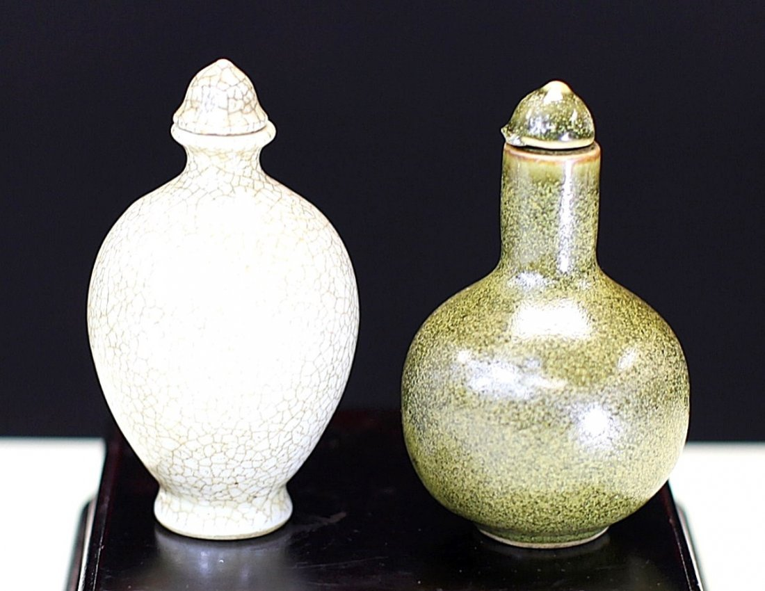 PAIR OF PORCELAIN SNUFF BOTTLES