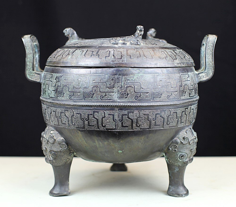 VERY FINE COVERED BRONZE DING