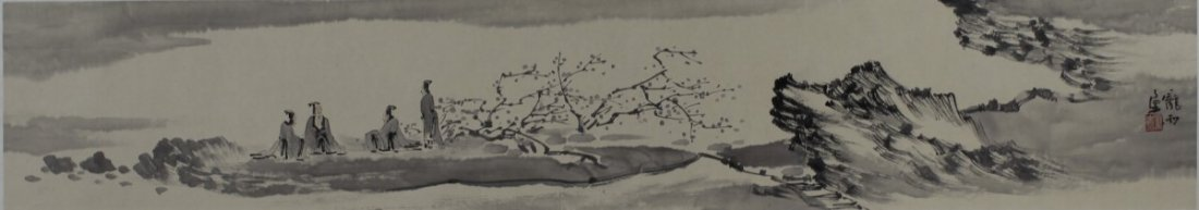 MOUNTED PAINTING ON PAPER, BY PANG YU