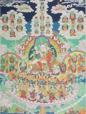 Tibetan Thangka Painting Scroll