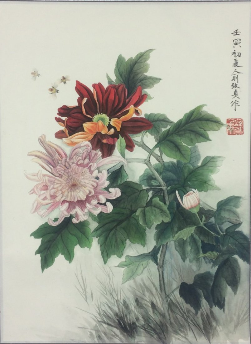 SCROLL PAINTING ON PAPER, ATTRIBUTED TO YU ZHI ZHEN