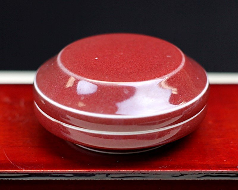 RED GLAZED PORCELAIN BOX - 2