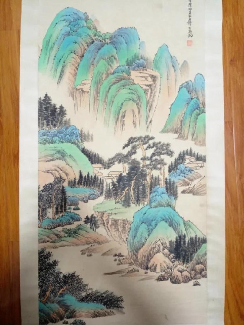 Xie Zhiliu ; Chinese Painting Scroll