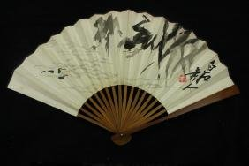 Qi baishi ; Chinese water color Fan painting