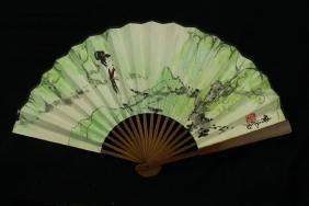 Fu Baoshi ;  Chinese water color Fan painting