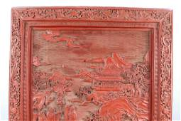 A Chinese Rare Beautiful lacquerware table screen ;
