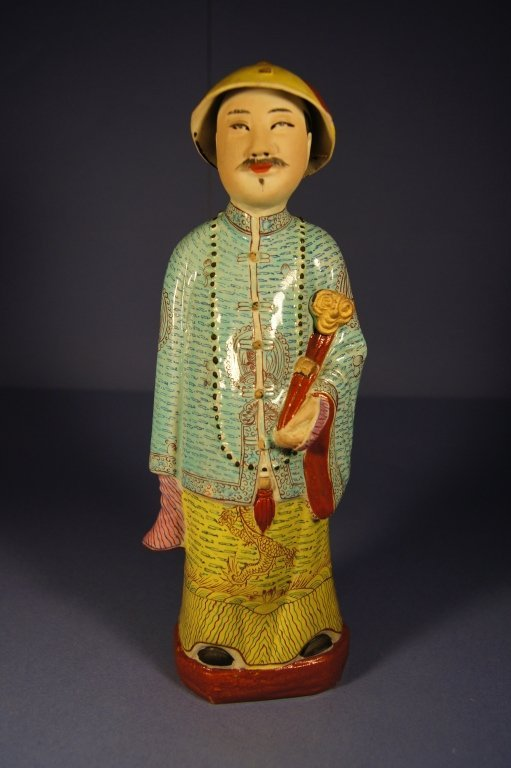 1: Chinese colored porcelain figure