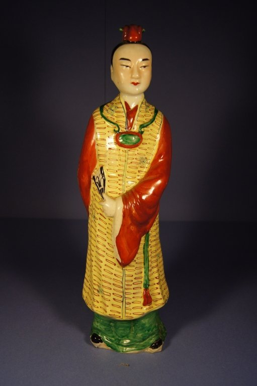 2: Chinese colored porcelain figure