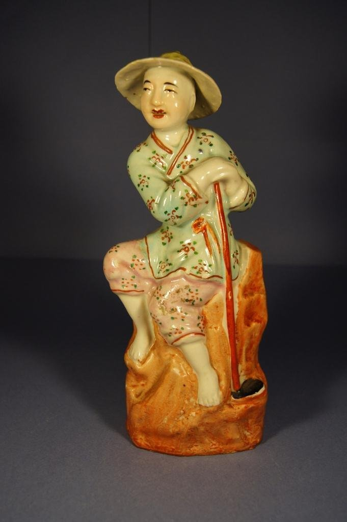 3: Chinese colored porcelain figure