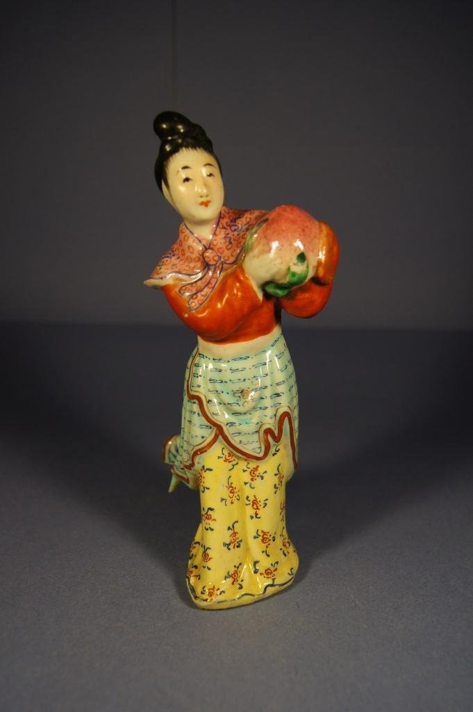 4: Chinese colored porcelain figure