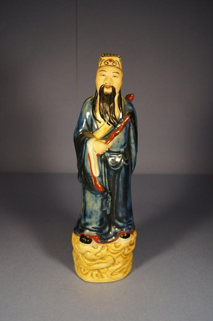 5: Chinese colored porcelain figure