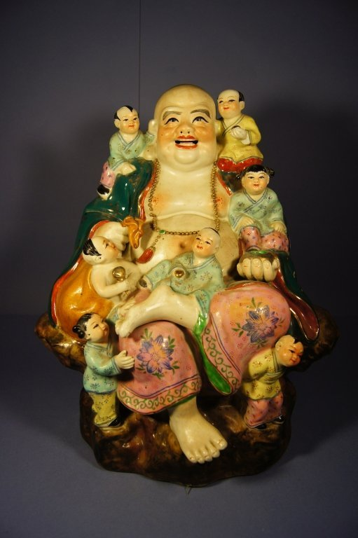 6: Chinese large colored porcelain figure