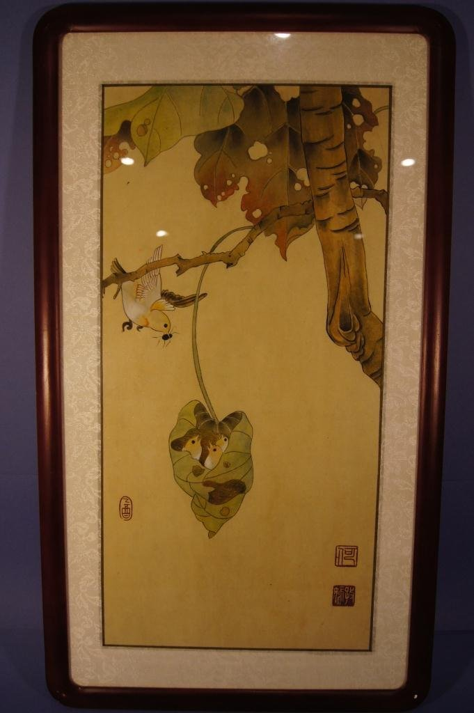 7: Chinese antique watercolor with frame