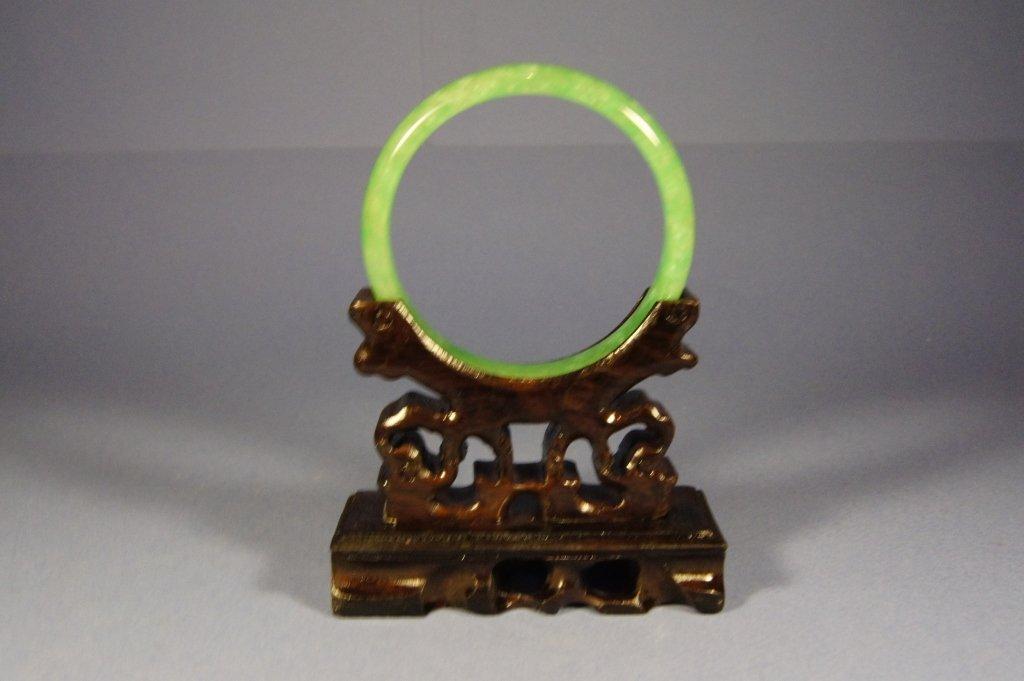 22: Chinese antique green jade bangle