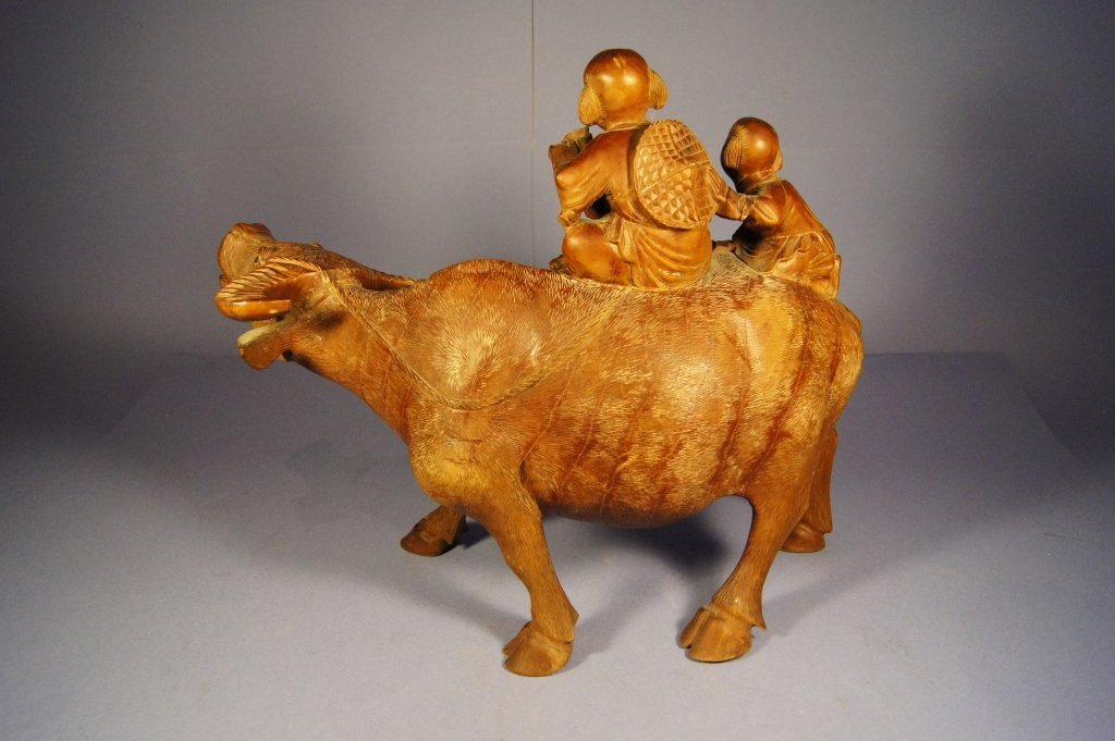 119: Chinese antique wooden sculpture - 2
