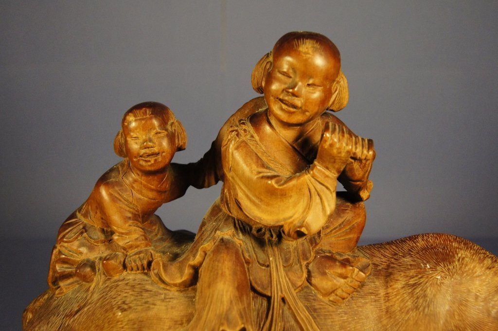 119: Chinese antique wooden sculpture - 3