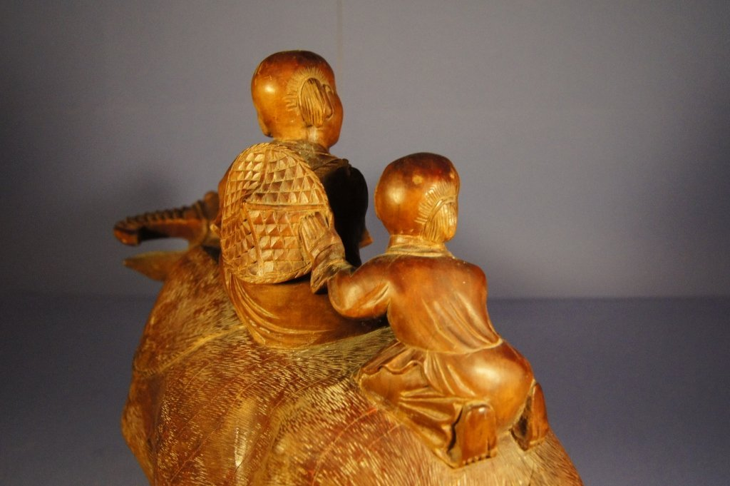 119: Chinese antique wooden sculpture - 5