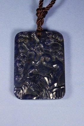 Chinese Antique Lapis Lazuli Pendant