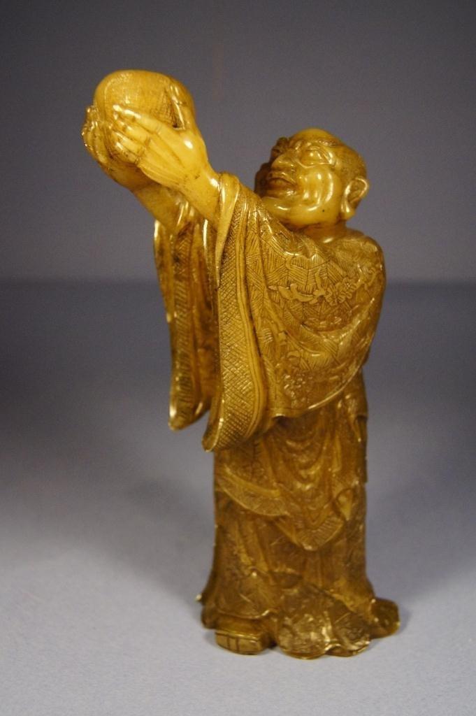 14: Chinese Shoushan stone carved Lohan