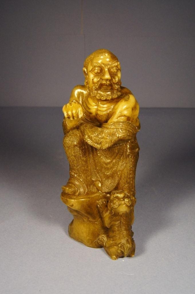 15: Chinese Shoushan stone Lohan statue