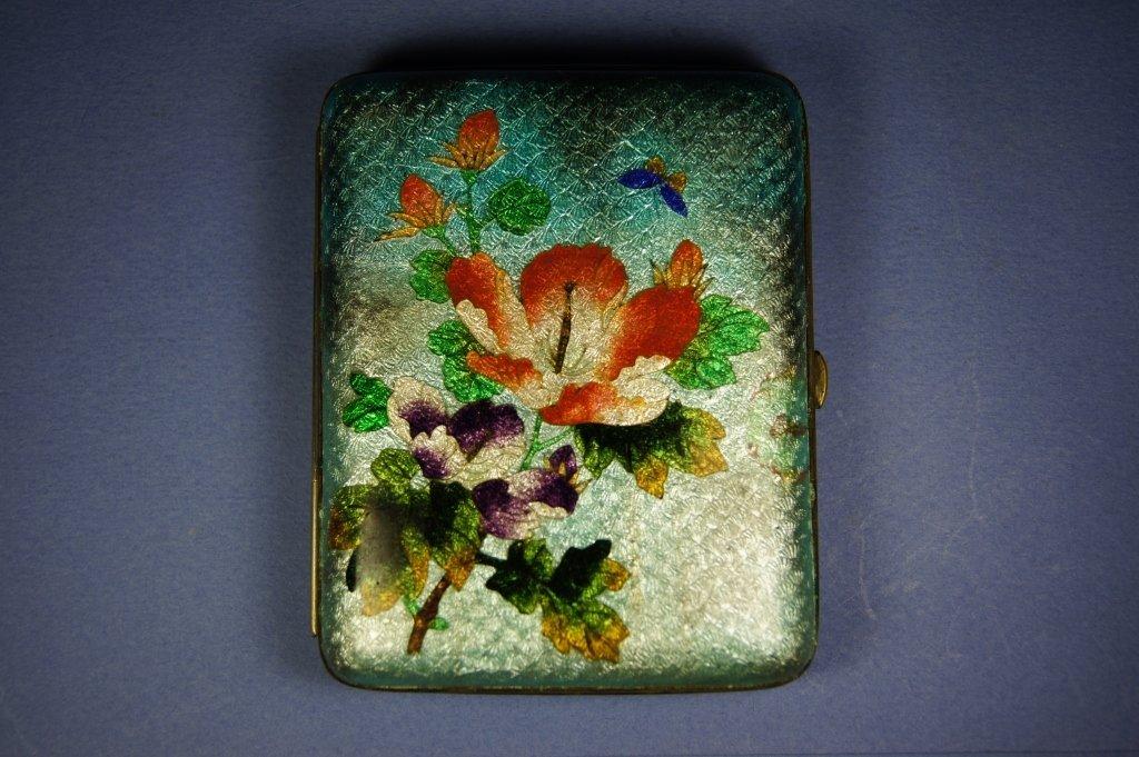 35: Chinese antique silver cigarette case