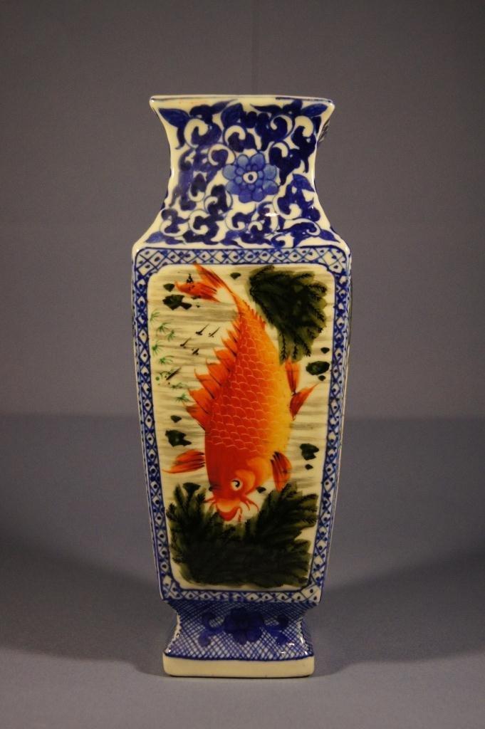 43: Chinese antique rectangular shape vase