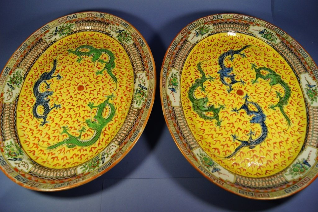46: Pair of Chinese Export porcelain plate